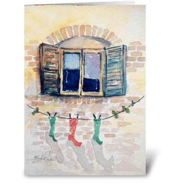No Chimney -- Just Line greeting card