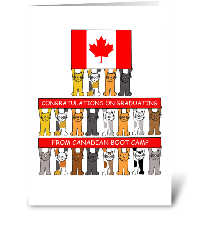 Canadian Boot Camp Congratulations. greeting card