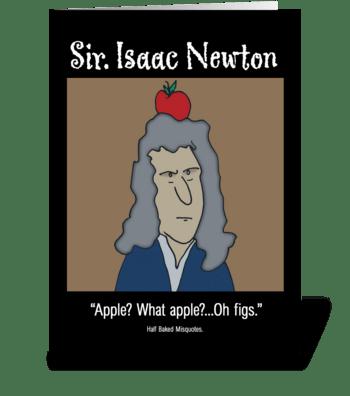 Isaac Newton greeting card
