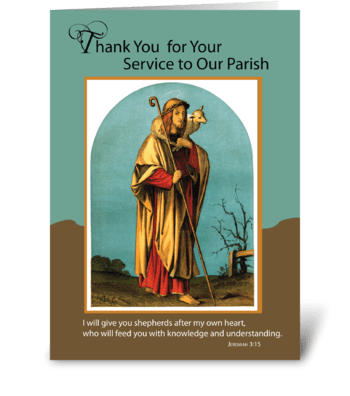Thank You to Priest for Parish Service greeting card