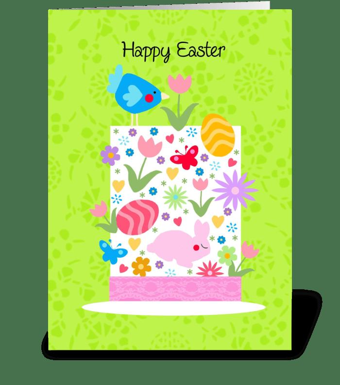 Easter Bonnet greeting card