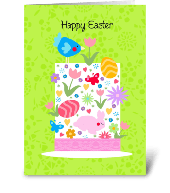 Easter Bonnet greeting card