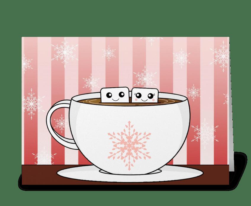 Marshmallows  greeting card