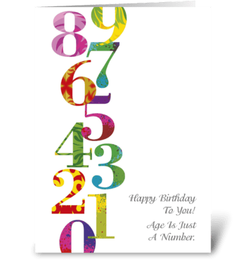 Birthday_numbers greeting card