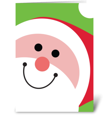 Jolly Santa greeting card