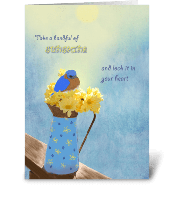 Handful of Sunshine greeting card