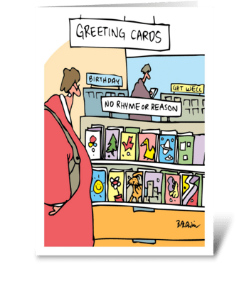 No Rhyme or Reason Just Thinking Of You greeting card