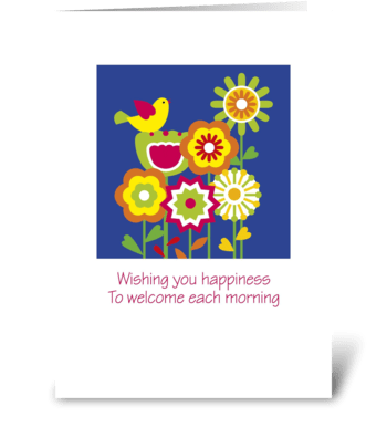 Wish_floral-folk greeting card