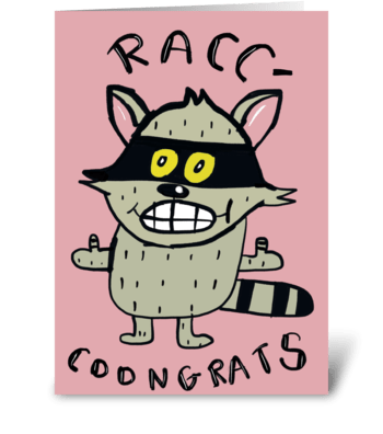 RACC-COONGRATS greeting card
