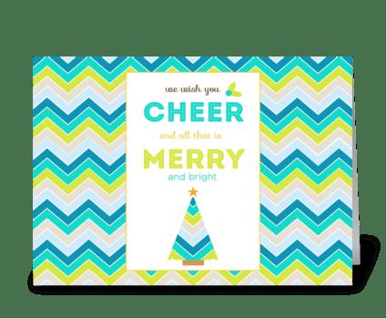 We Wish You Christmas Cheer. greeting card