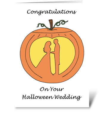 Halloween Wedding  greeting card