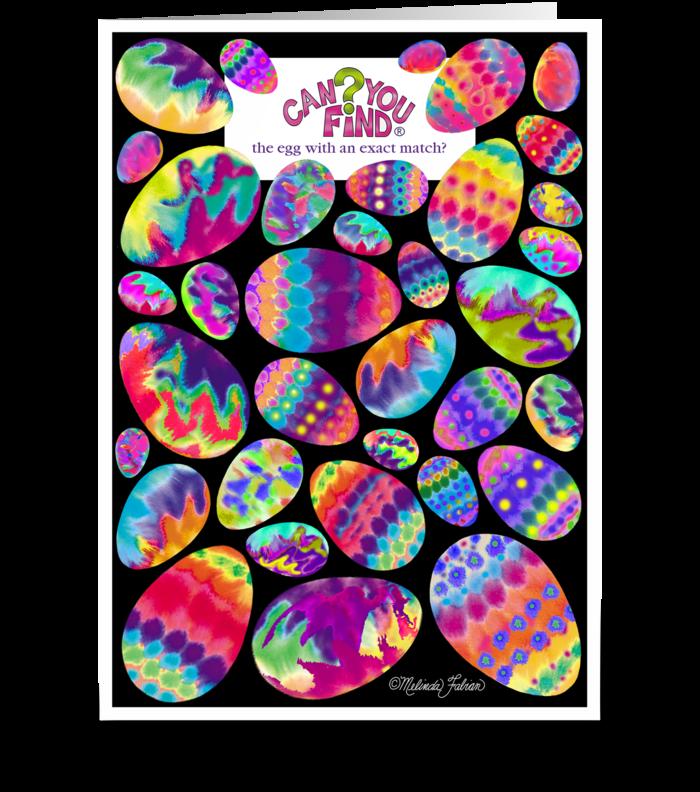 Easter Egg Hunt greeting card