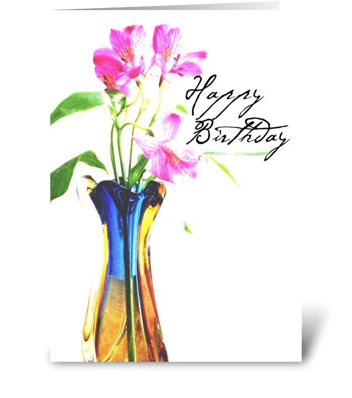 Birthday filled with Love greeting card