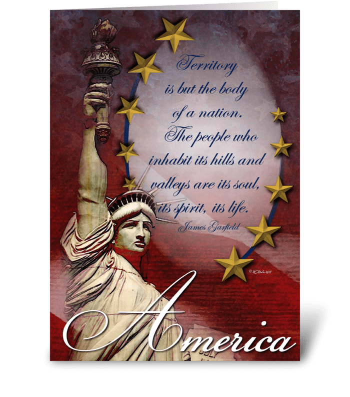 Patriotic Statue of Liberty Card greeting card