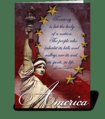 Patriotic Statue of Liberty Card greeting card