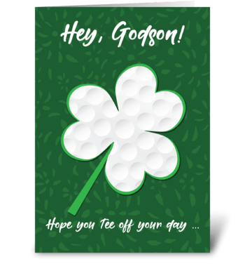 Godson Golf Sports St. Patrick's Day greeting card