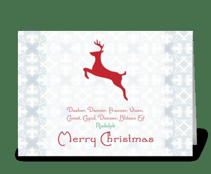 Merry Christmas {reindeer} greeting card