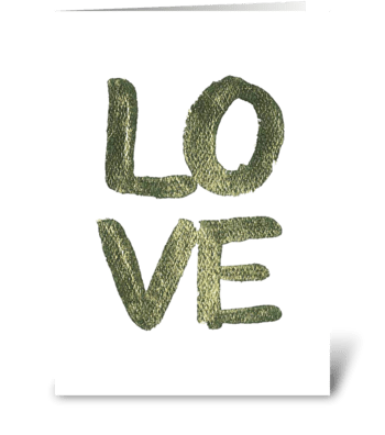 Gold Leaf - LOVE greeting card