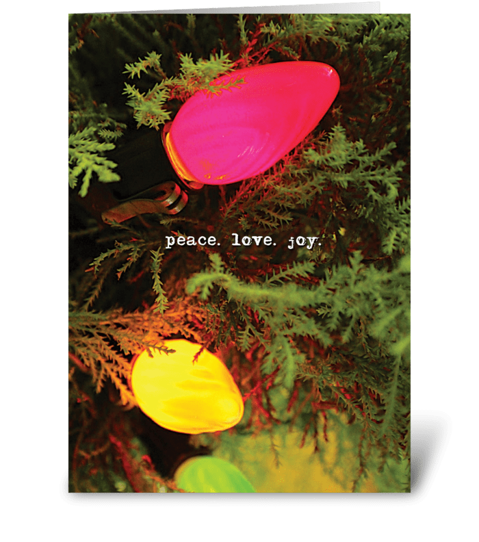 peace. love. joy. greeting card