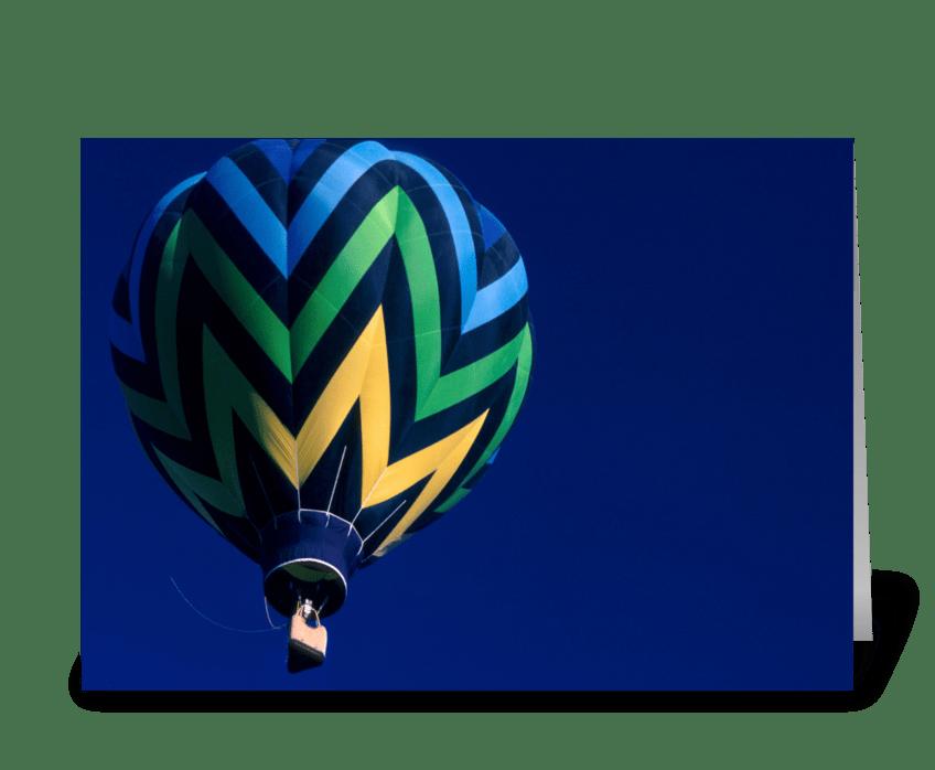Blue Balloon on Blue Sky greeting card