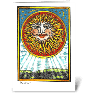 Sunbeam greeting card