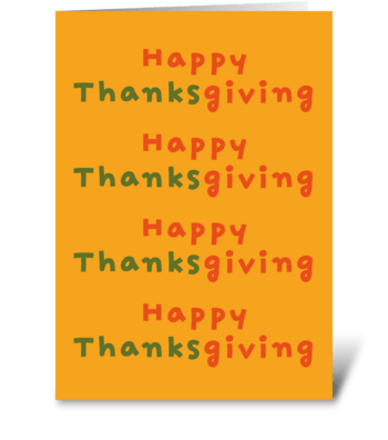 93 Happy Thanksgiving  greeting card