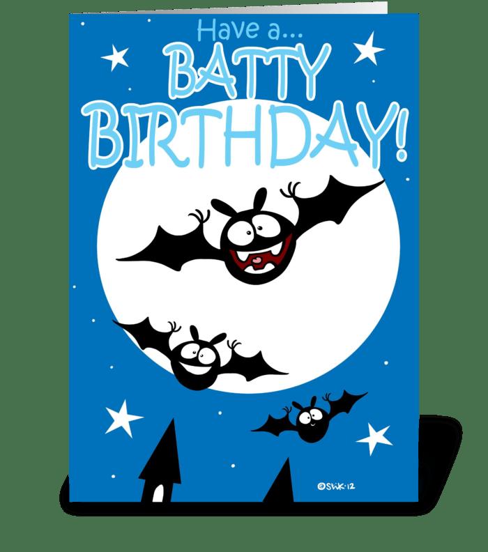 Batty Birthday greeting card