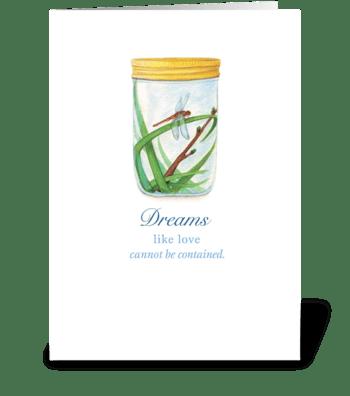 Dragonfly - Dreams greeting card