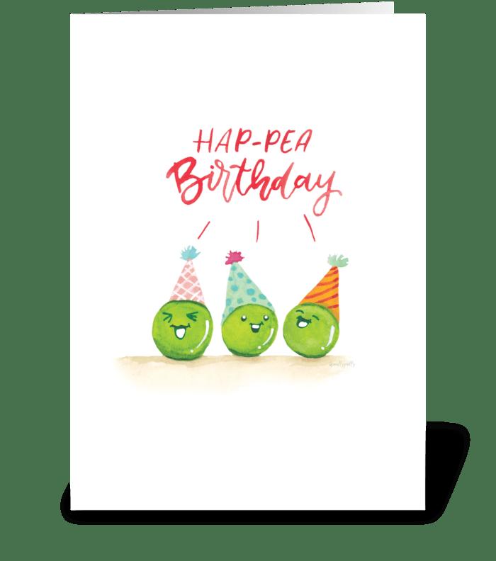 Hap-pea Birthday! greeting card