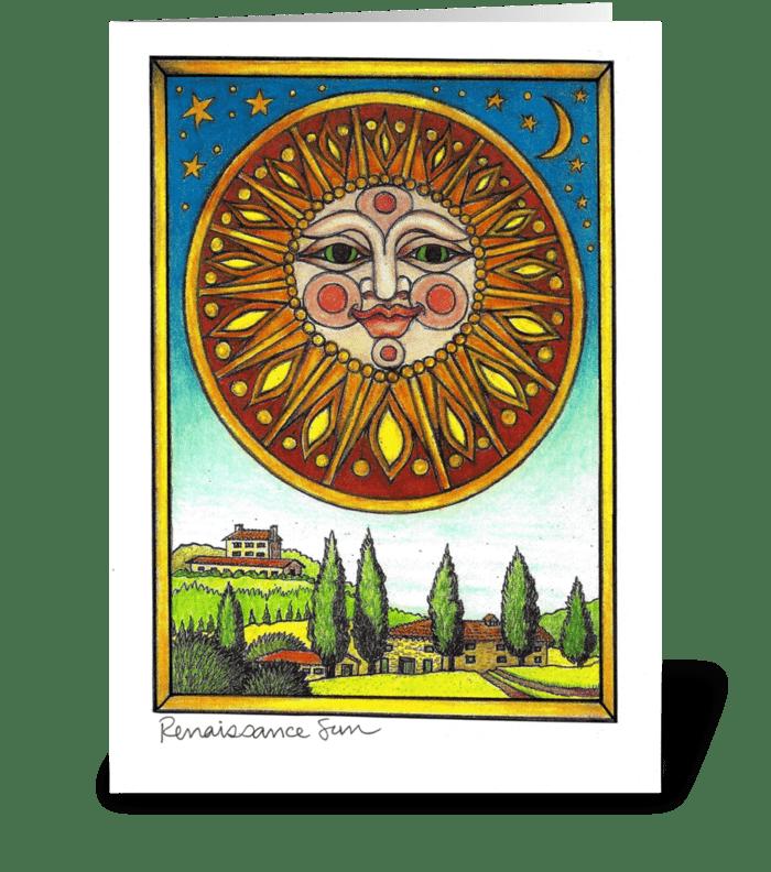 Renaissance Sun greeting card