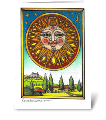 Renaissance Sun greeting card