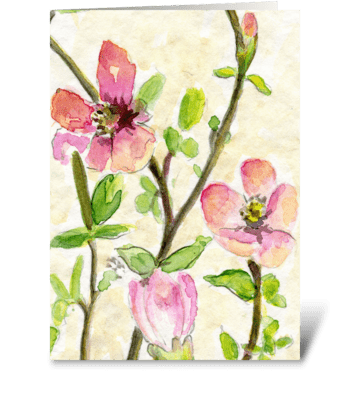 Happy Spring Time greeting card