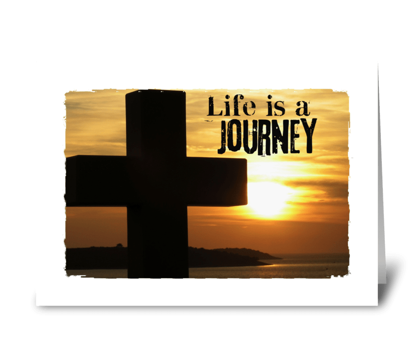life is a journey greeting card
