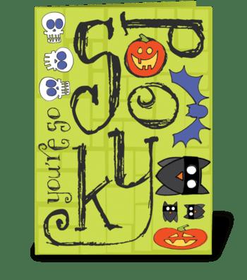 Spooky Halloween greeting card