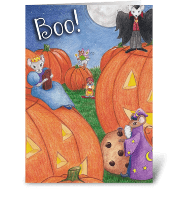 Boo! Halloween Card greeting card