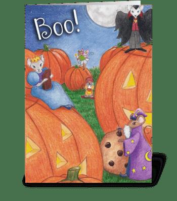 Boo! Halloween Card greeting card