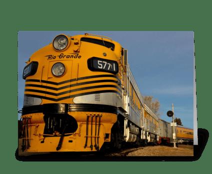 Yellow Train greeting card