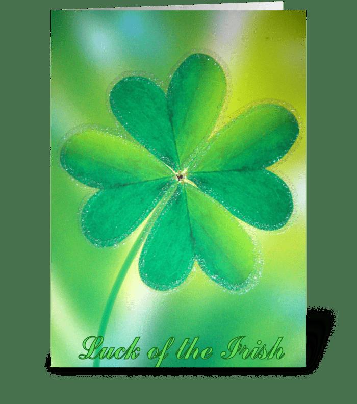 Luck of the Irish greeting card