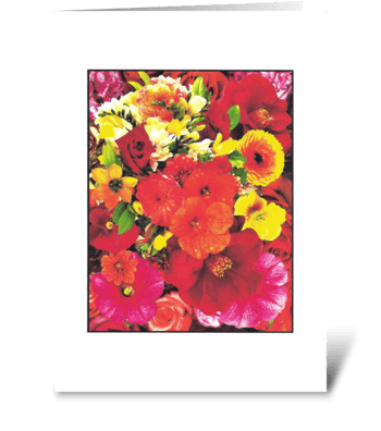 FLOWERS EXPRESS LOVE greeting card