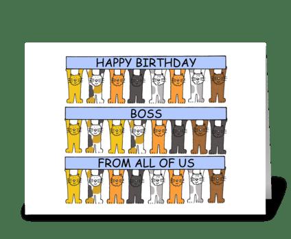 Happy Birthday Boss. greeting card