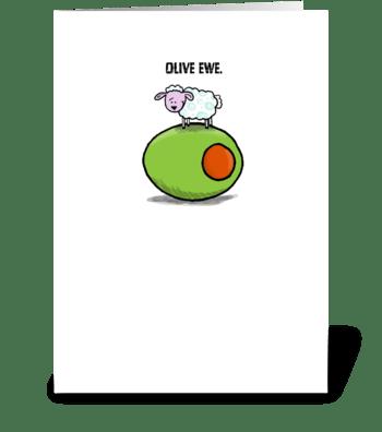 Olive Ewe greeting card