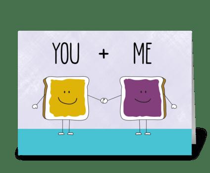 PB&J greeting card