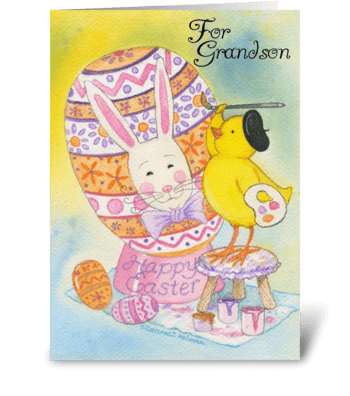Happy Easter Grandson greeting card