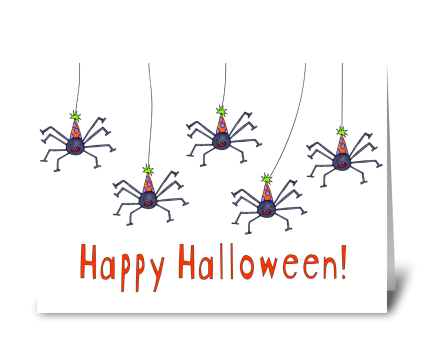 spider halloween greeting card