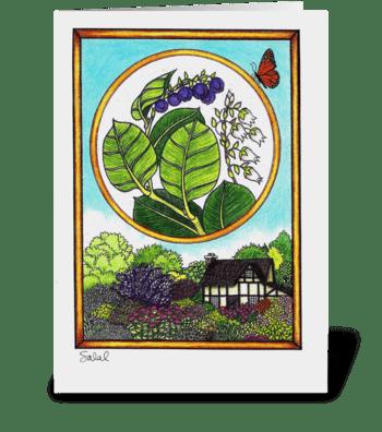 Salal greeting card
