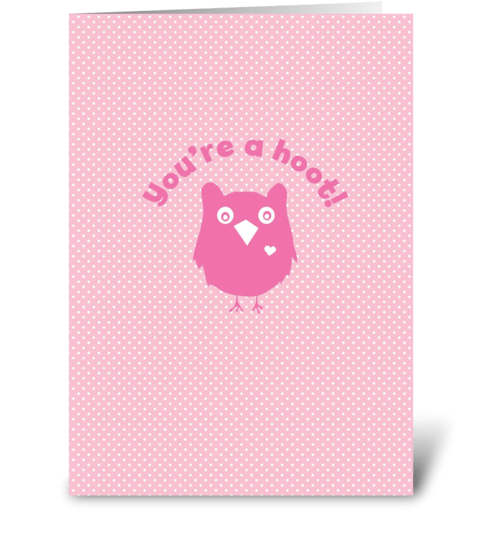 Hoot Owl Love greeting card