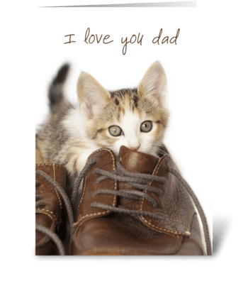 Kitten Love You Dad greeting card