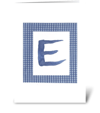 E -Baby Boy greeting card