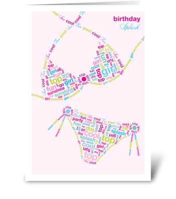 Birthday Bikini greeting card