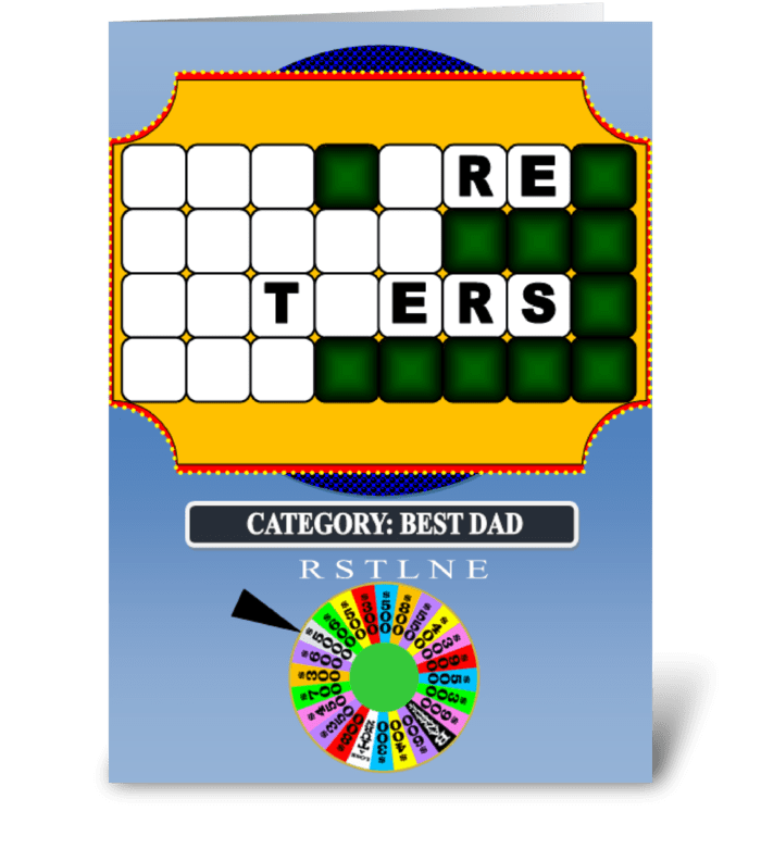 FATHER'S DAY WHEEL OF FORTUNE CARD greeting card